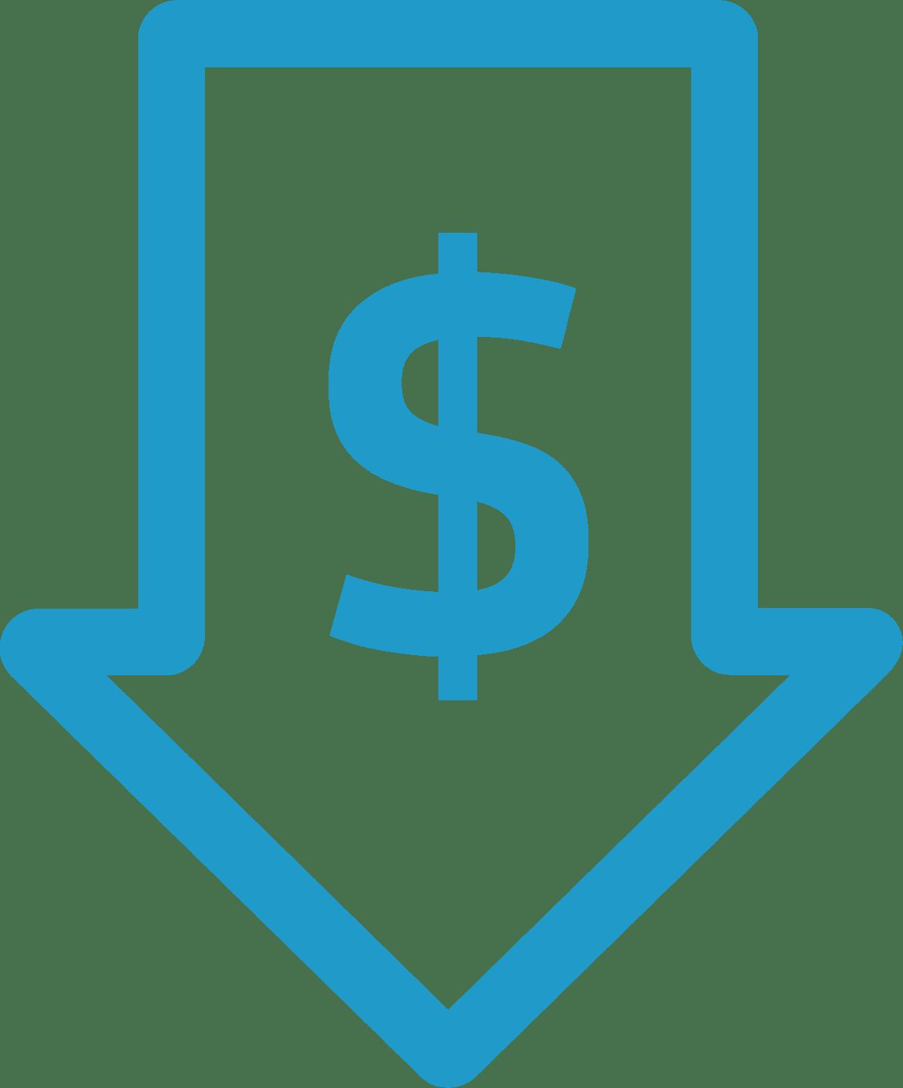 Icono precio accesible